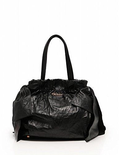 4b850aef6bd3 Amazon | (プラダ) PRADA ハンドバッグ ショルダーバッグ リボン 黒 2WAY BN1760 中古 | PRADA(プラダ) |  ハンドバッグ