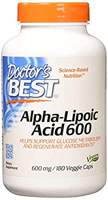 Doctors Best Alpha-Lipoic Acid, Non-GMO, Gluten Free, Vegan, Soy Free, Helps Maintain Blood Sugar Levels