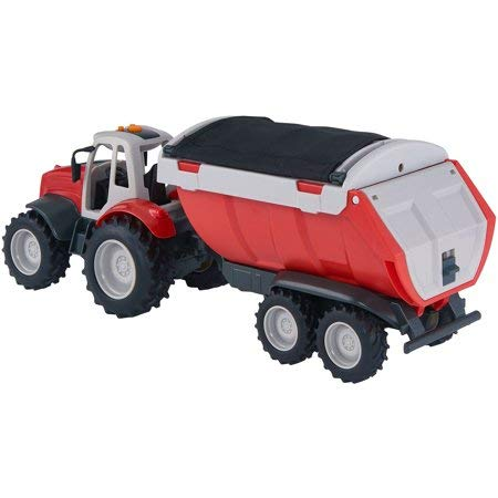 Super Realistic,Fun Vibrant AF Farm Works Battery Operated Motorized Vehicle,Red Lights Makes Sounds,Ideal Gift Kids Who Love Farming,Machinery Trucks