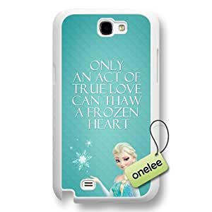 Disney Frozen Quotes Hard Plastic Phone Case Cover for Samsung Galaxy Note 2 - White
