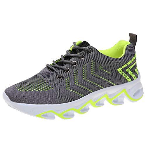 Deloito Damen Turnschuhe Mode Schnür Sportschuhe Bequem Weicher Boden Reisen Wander Schuhe Mesh Atmungsaktive Laufschuhe
