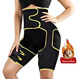 Newtion Waist Trainer Trimmer for Women Weight Loss Thigh Waist Butt Lifter Shapewear Belt-Workout Body Sweat Band,3 in 1 Slimming Body Belt