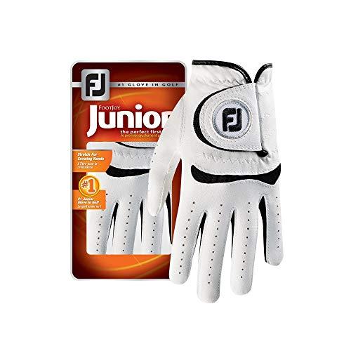 Golf Kids Golf Glove - FootJoy Junior Golf Glove, White Large, Worn on Left Hand