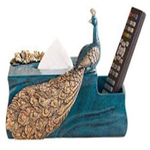 MGE Europese Stijl Woonkamer Tissue Box Creatieve Home Koffietafel Kast Decoratie Ambachten Inrichten Opbergdoos Pauw…