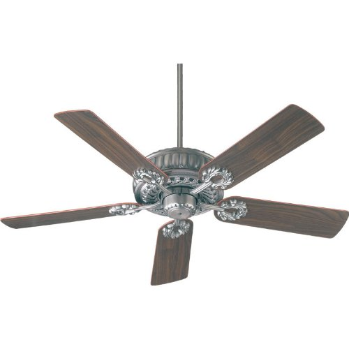 Quorum 35525-92, Empress Antique Silver Energy Star 52'' Ceiling Fan by Quorum