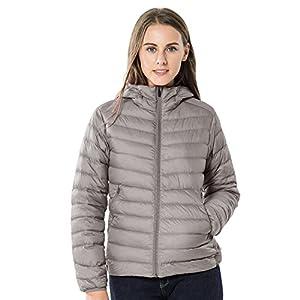TAK Women's Hooded Down Jacket Packable Ultra Lightweight Long Sleeve Outwear Short Puffer Coats