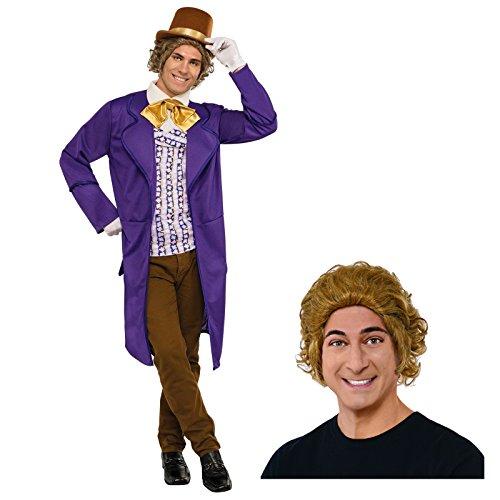 Willy Wonka Costume Adult Costume Bundle Set