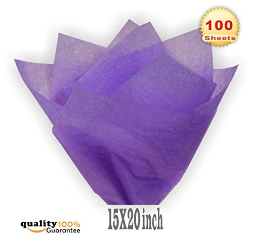 PMLAND Premium Quality Gift Wrap Tissue Paper - Lavender Purple - 15 Inches X 20 Inches 100 Sheets