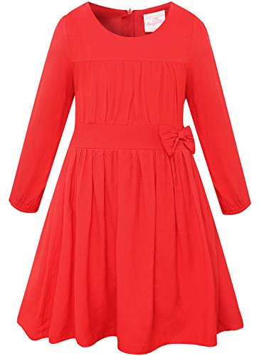 Long Sleeve Girls Dress - 1
