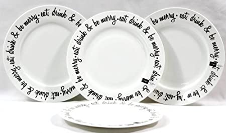 eat drink and be merry plates