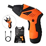 Electric Screwdriver Kit, Rechargeable Screwdriver – GETUHAND 46 in 1 Cordless Power Screwdriver set,3.6V cordless Screwdriver with Rechargeable Battery, LED Lights, Bits, Sockets, and Case