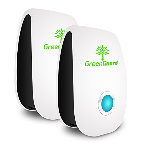 GreenGuard Ultrasonic Pest Repeller (2-Pack), Optimal Pest Repeller for Mice, Mosquito, Roaches, Spider and All...
