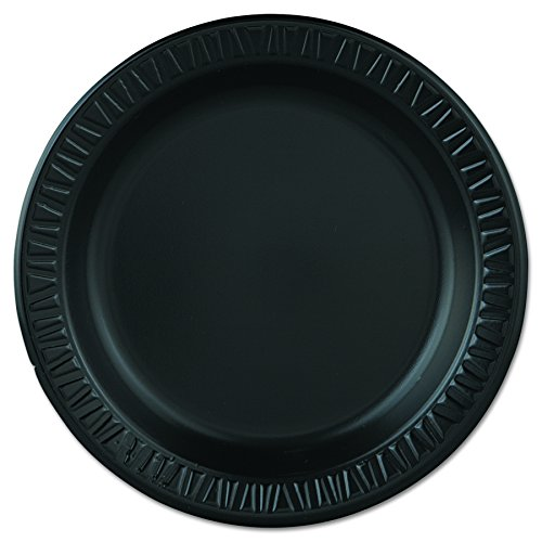 - Dart 9PBQR 9 in Black Laminated Foam Plate (Case of 500)