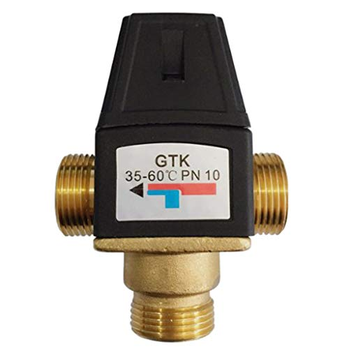 Flameer Brass Automatic Thermostatic Mixing Blending Valve Water Heater Shower Valve - DN20 Male by Flameer (Image #3)