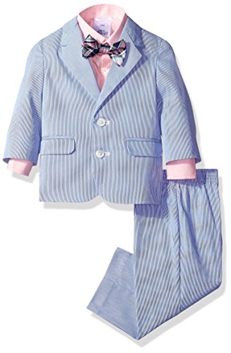 Nautica Boys' Suit Set with Jacket, Pant, Shirt, and Tie, Bright Blue, 24 (Cotton Nylon Suit)