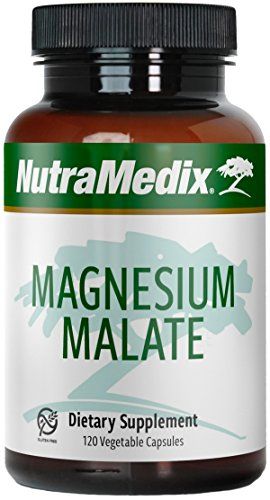 NutraMedix Magnesium Malate - Bioavailable Magnesium Capsules for Cellular Support (120 Vegetarian Capsules)