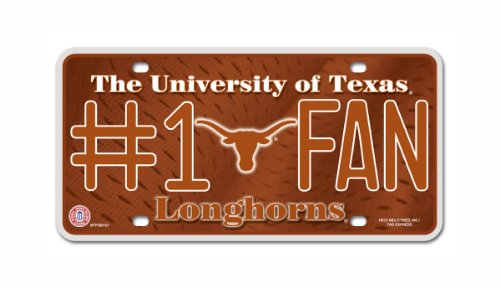 NCAA Texas Longhorns #1 Fan Metal Auto - Outlet Mall Texas