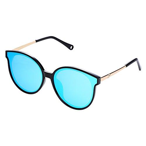 SunDecker Oversized Cat Eye Polarized Sunglasses For Women,Designer,100% UV Blocking - Sunglasses New Trend