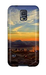 Galaxy S5 Case Cover - Slim Fit Tpu Protector Shock Absorbent Case (cadillac Mountain Sunrise) VYPDPRKEPWOPONFV