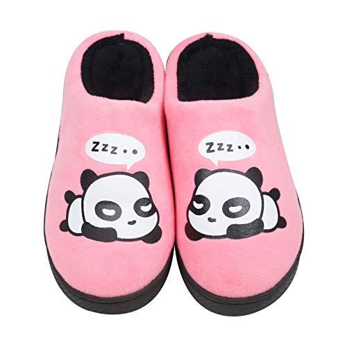 Hiver Homme Chaussons Panda Femme Qzbaoshu Rose Chaussures BAdqwZ