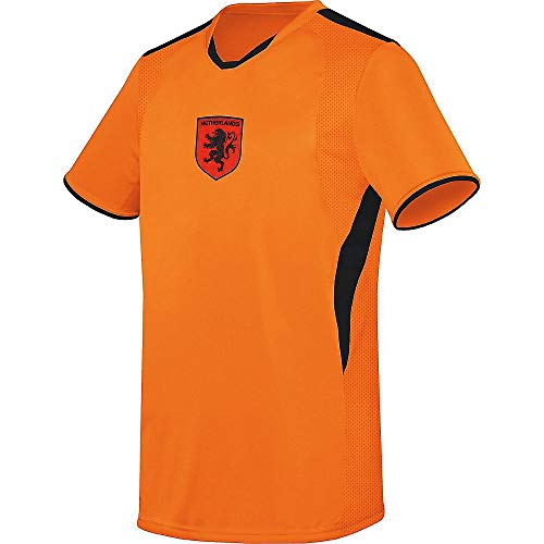 Augusta Soccer Jerseys - Augusta Sports Youth Medium Netherlands Oranje (Blank Back) International Soccer Jersey