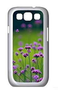 Natural Purple Flowers Beautiful Custom Hard Back Case Samsung Galaxy S3 SIII I9300 Case Cover - Polycarbonate - White