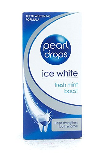 Pearl Drops Whitening Toothpolish Ice White Freshmint Boost - 50ml (White Whitening Toothpaste Pearl)