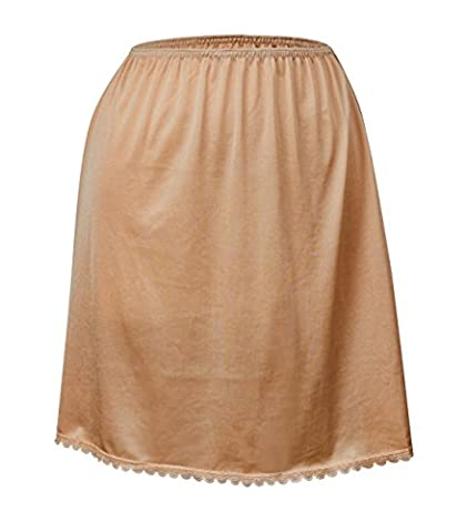 Valair Women's Classic Half Slip Skirt, 100% Nylon, 24 Inch, Medium, Nude