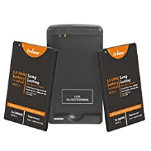 Note 3 Battery: Lrker Samsung Galaxy Note 3 III Battery Kit[2*Batteries+1*Charger]2* 3200mAh Li-Ion Extended Batteries B800BBC with NFC Combo with Specail Intelligent USB Travel Charger(2*B+1*C)
