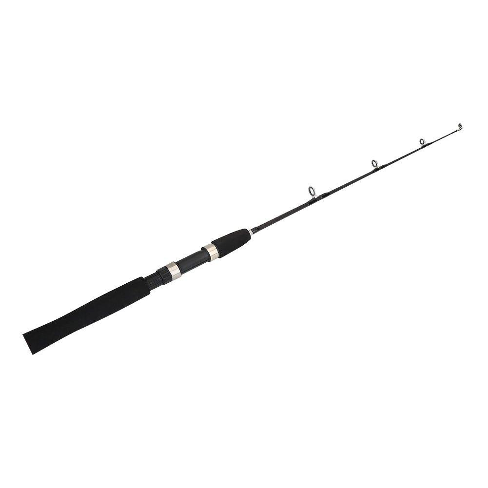 海釣りロッド伸縮4セクションルアー80 cmポータブル耐久性釣りポールタックルアクセサリー  ブラック B077TJHP85