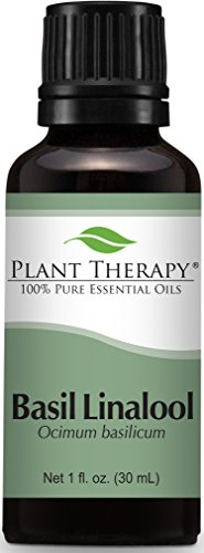 Plant Therapy Basil Linalool Essential Oil 30 mL (1 oz) 100% Pure, Undiluted, Therapeutic Grade