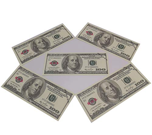 Movie Prop Money $10000, Copy Money Full Print 2 Sided $100 Dollar Bills  Stack,Face Money that Looks Real,New Published Thickening for