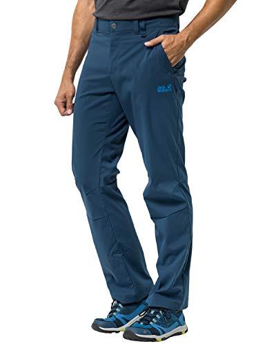 Jack Wolfskin Men's Activate Light Men's Soft Shell Hiking Pants 100% Pfc Free,Poseidon Blue ,48 (U Small 33/32)