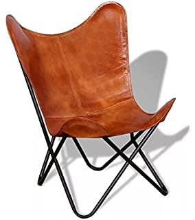 amazon com classic cover cowhide leather bkf butterfly chair
