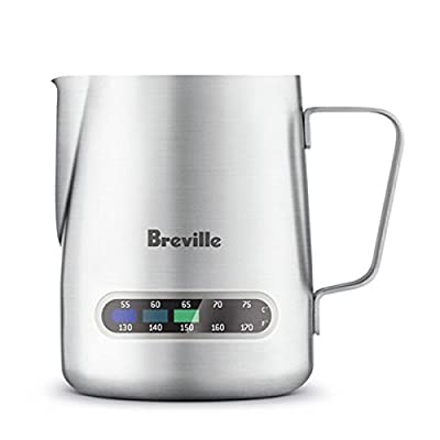 Breville Stainless Steel Temp Control Milk Jug, 16oz. Capacity, BES003XL