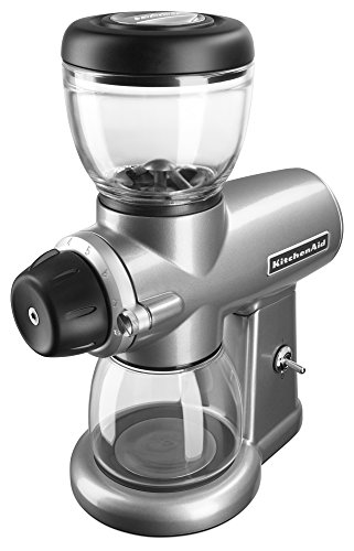 KitchenAid KCG0702CU Burr Coffee Grinder, Contour Silver