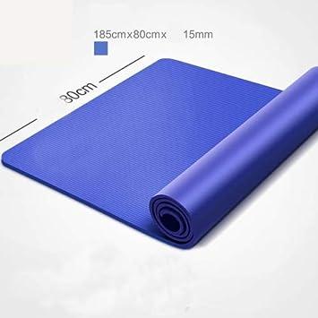 EVEYYGD Estera de Yoga NBR 185 * 80 cm 15 mm Grosor esteras ...
