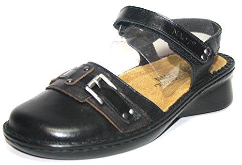 Naot Tenor - Sandalias de Vestir de cuero Mujer Schwarz (Black Comb.)