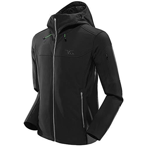 TAK Men's Softshell Jacket Packable Light Coat Black-L