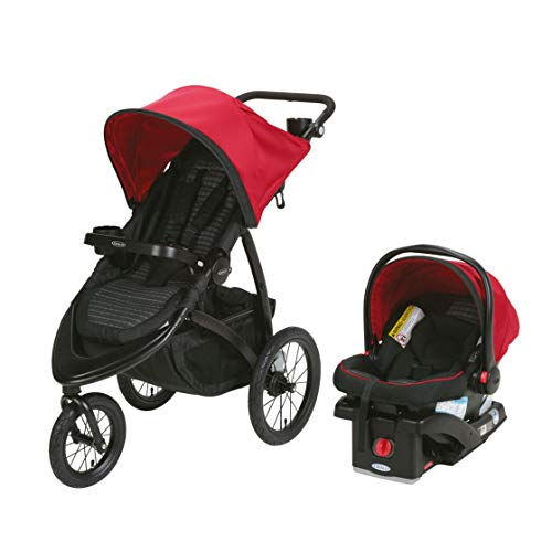 (Graco RoadMaster Compact Fold Jogger Travel System Infant Baby Stroller, Zink)
