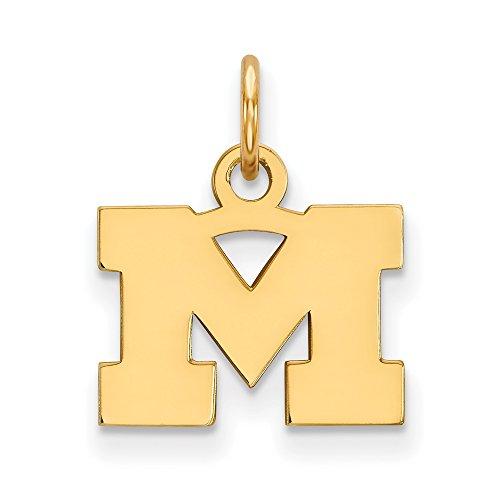 Michigan Extra Small (3/8 Inch) Pendant (14k Yellow Gold) ()