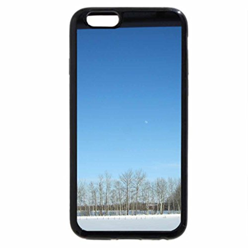 iPhone 6S / iPhone 6 Case (Black) The Moon on a blue sky
