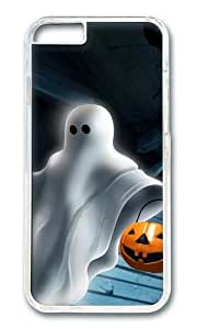 iPhone 6 Case,VUTTOO iPhone 6 Cover With Photo: Halloween Ghost For Apple iPhone 6 4.7Inch - PC Transparent Hard Case