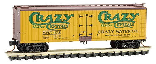 (Micro-Trains MTL N-Scale 40ft Wood Reefer Car Crazy Water Crystals Co/Art #472)