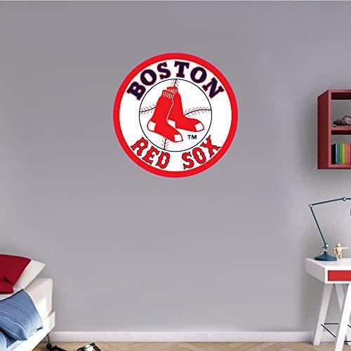 skyhighprint - Boston Red Sox MLB Baseball Logo Sport Wall Decor Print Sticker 22'' X 22''