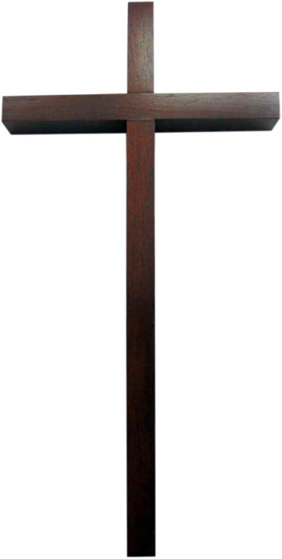 JWG Industries Wall Cross 12 inch Traditional Solid Wooden Christian Style in Walnut Finish with Gift Box