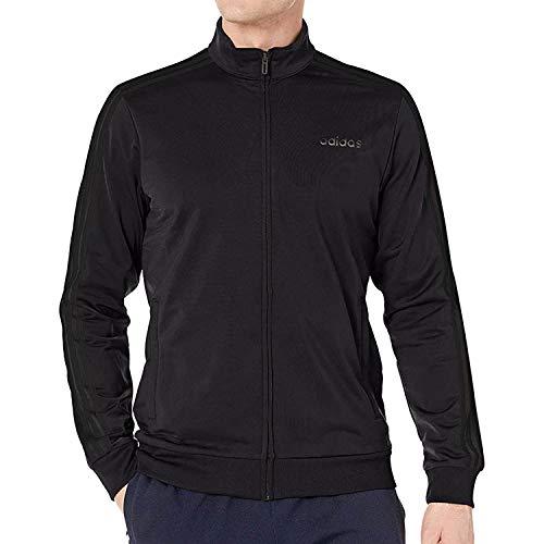 adidas Essentials Men's 3-Stripes Tricot Track Jacket, Medium, Legend Ink/White/White