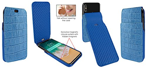 Piel Frama 792 Blue Crocodile iMagnum Leather Case for Apple iPhone X by Piel Frama (Image #5)