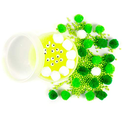 SLIMYGLOOP Mix'Ems by Horizon Group USA- Gross, Mix & Create Your Own Ooey, Gooeys Green Gross Slime with Wiggly Eyes, Pom Poms & Crunchy Foam ()
