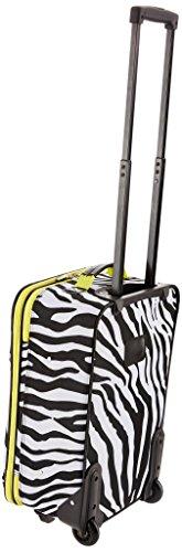 Rockland Luggage 2 Piece Printed Luggage Set, Lime Zebra, Medium
